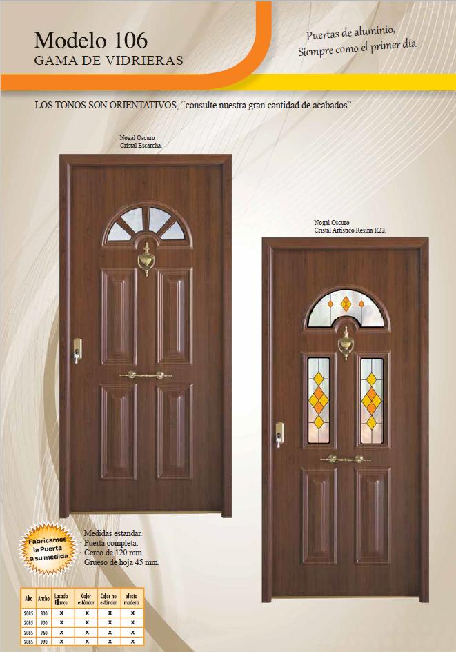 Puertas vivienda zaragoza puerta de entrada a vivienda for Puertas de aluminio medidas estandar
