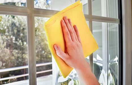 limpiar las ventanas PVC