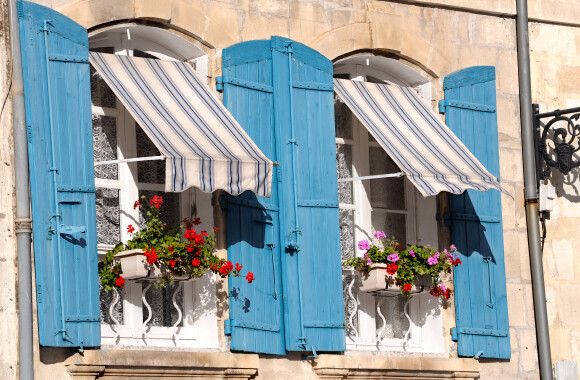 French window in South of France