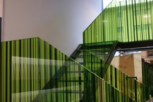 vidrio decorado